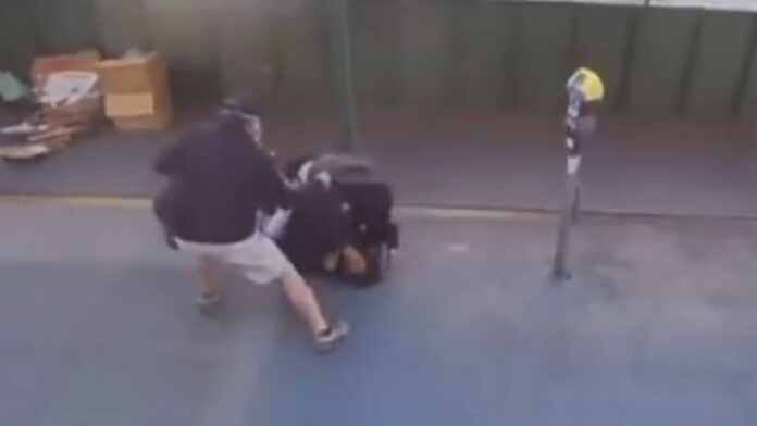 Bystanders Save a Female Officer from Attack...