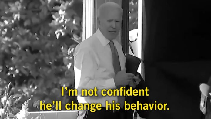 Watch: Biden Yells at a Reporter Who Dares to Question Him...