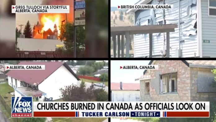 Churches Burning in Canada, Trudeau Looks On...