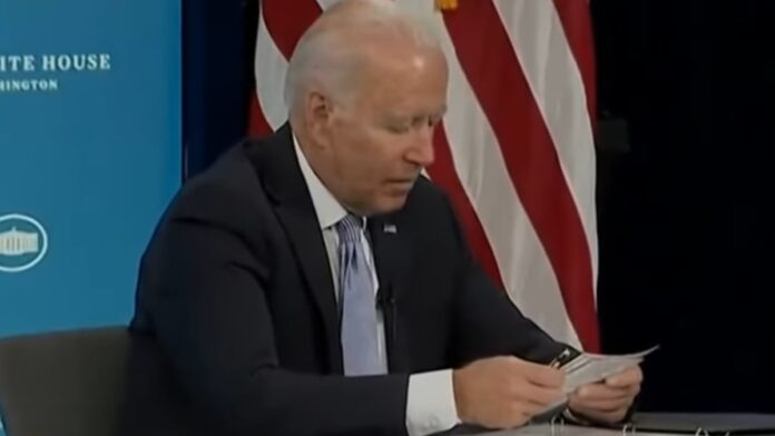 Watch: Biden Controls the Meeting with a Little Help from His Flashcards...